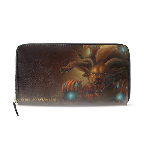 Women Wristlet Ladies Wallet Zip Around Clutch Purse with Phone Compartment-Halloween Guild Wars ()