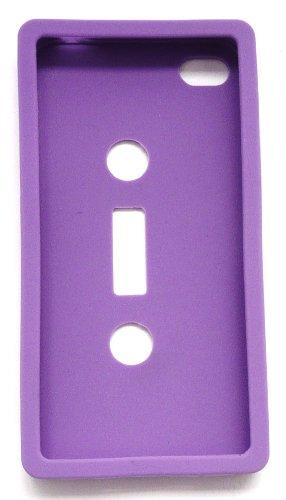Emartbuy Apple Iphone 4 4G 4Gs 4S Hd-Lcd-Display Schutzfolie Und Casette Tape Silicon Case / Cover / Skin Purple
