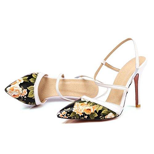 Soiree Hauts Black Sandals TAOFFEN Talons Femmes pOt7xwqnSU