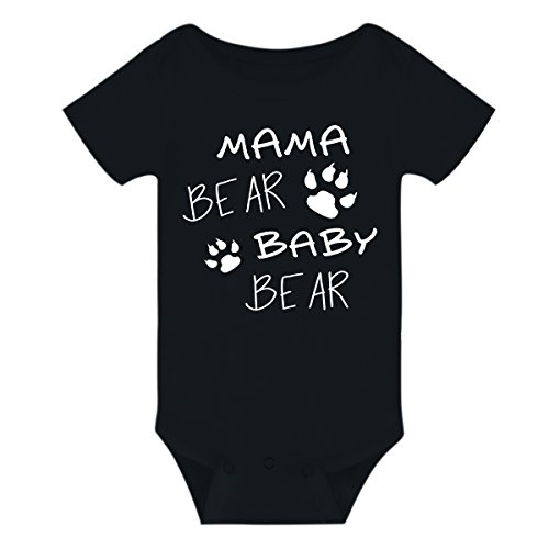 Amberetech Infant Baby Romper with Mama Bear Cotton Shortsleeve Jumpsuit Clothes
