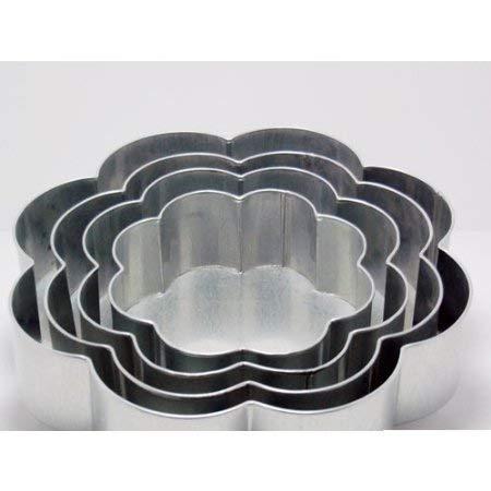 - EURO TINS Professional 4 Tier Petal Multilayer Wedding Anniversary Cake Baking pan 6