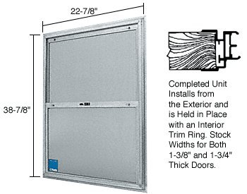 22-3/4'' x 38-3/4'' Bel-Air ''Plaza'' Replacement for Competitive Combination Unit with Clear Tempered Glass and Mill Frame for 1-3/4'' 2-8 Door by C.R. Laurence