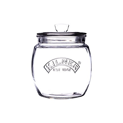 (Kilner Glassware Universal Storage Jar Durable Multi-Purpose Glass Container with Airtight Push-top Lid, 28-3/4-Fluid Ounces)