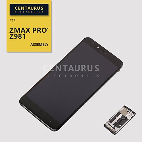 For ZTE ZMax Pro Z981 6.0'' Assembly LCD Display Touch Screen Digitizer Glass Part With Frame Combo Complete Replacement by CE CENTAURUS ELECTRONICS