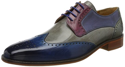 MELVIN & HAMILTON MH HAND MADE SHOES OF CLASS Herren Jeff 14 Derby Mehrfarbig (Crust/Bluette/Morning Grey/Lilac/Moroccon Blue/Clear Water/Ls Nat.)