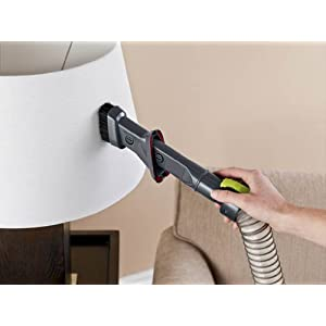 Hoover WindTunnel Air Bagless Upright Corded Lightweight Vacuum Cleaner - in use lampshade