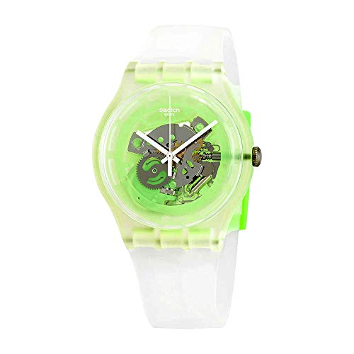 - Swatch Greenmazing SUOK131 Clear Silicone Quartz Fashion Watch