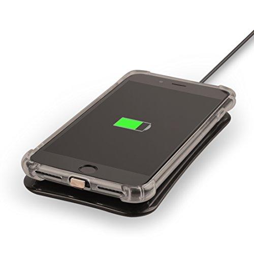 iPhone Case Cover 3 en 1 pour iPhone 7 Étui de protection souple en TPU + QI Standard récepteur de chargement sans fil + QI Transmetteur de charge sans fil standard, obtenu la certification CE et FCC