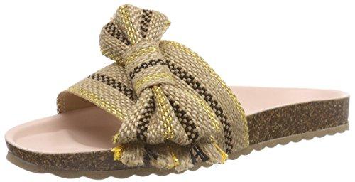 ESPRIT Damen Lisa Bow Slide Pantoletten Gelb (Gold)