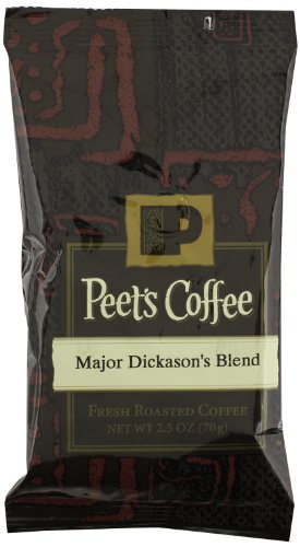 Peet's Coffee & Tea Major Dickason's Blend Ground Coffee, 2.5-Ounce Fractional Packs (Pack of 18)