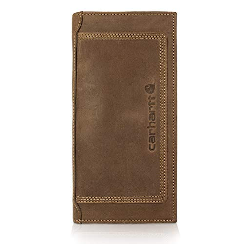 Carhartt Men's Rodeo Wallet, Detroit Brown, One Size