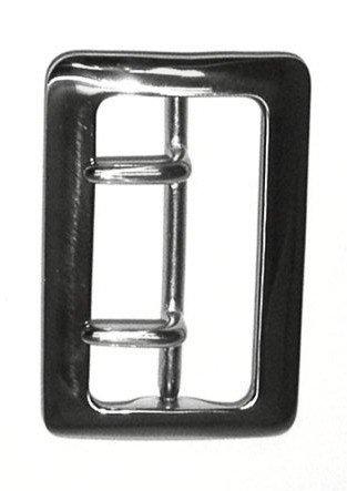 Air-Tek Sam Browne 2 1/4 Inch Duty Belt Buckle - Polished Nickel