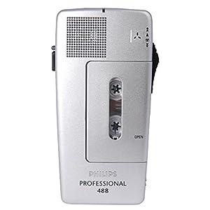 PSPLFH048800B - Philips Pocket Memo 488 Slide Switch Mini Cassette Dictation Recorder