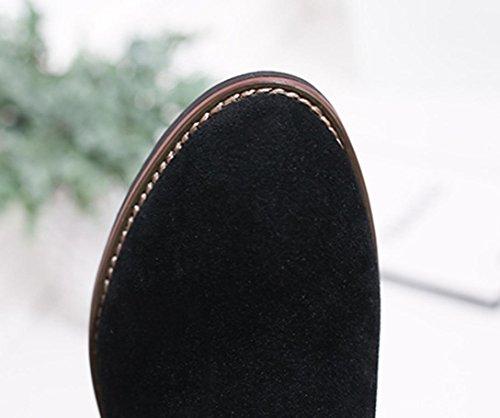 Chaussures Chaud Martin Qinmm Suede Faux Femmes Cheville Solide ggU0qr