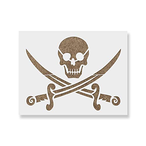 Pirate Stencil Template - Reusable Stencil with Multiple Sizes Available ()