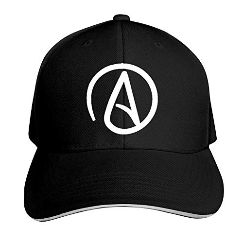 Signature of Atheist Adjustable Baseball Cap, Old Sandwich Cap, Pointed Dad Cap Black