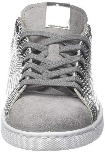 Plateado Victoria Metalizado Deportivo 14 plata Para Mujer Placa Zapatillas fPP1wq6Y