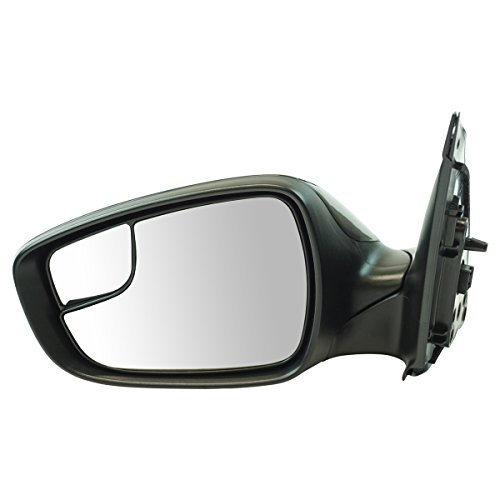 - Exterior Power Mirror Heated Black Smooth LH Driver Side for Hyundai Accent