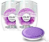 Olay Body Wash Cleansing And Exfoliating Shower Disk, Just Add Water, 60 Uses Multipack (2-Pack)