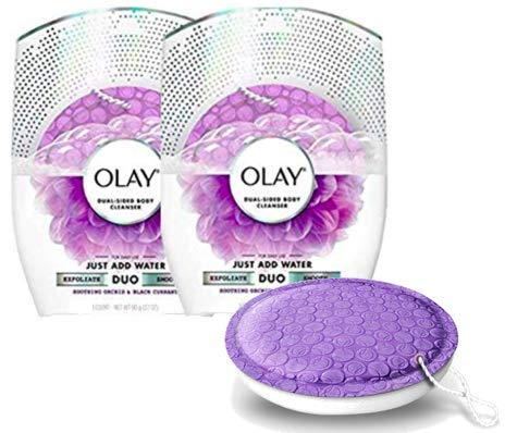 Olay Body Wash Cleansing And Exfoliating Shower Disk, Orchid & Black Currant (2-(Pack)) (Oil Olay Scrubber)