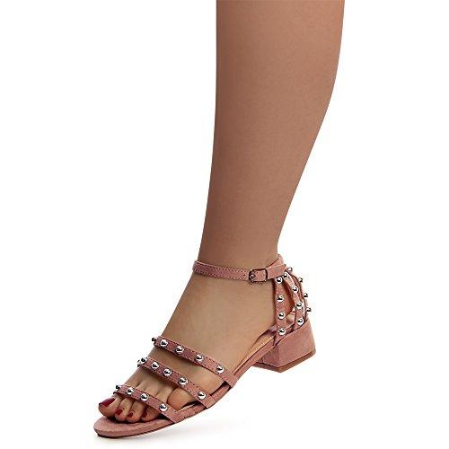Sandalettes Rose Sandales Femmes Vieux topschuhe24 qwERxOaO