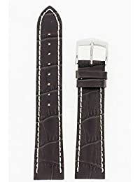 Hirsch Modena Brown Alligator Embossed Leather Watch Strap 103028-10-20
