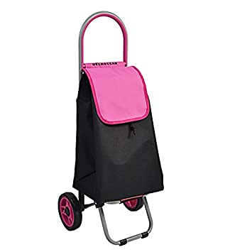 Ali Lamps@ Hand Truck/ Steel Tube Shopping Cart / Four Color Optional Luggage Cart / Trolley/ Portable Shopping Cart / Folding Trolley / Two Rounds Of Money / Pink Mute Trolley / Contains Bag/ Load 15 Kg ( Color : Yellow )