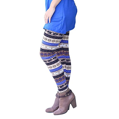 Elevin(TM)Women Lady Casual Skinny Christmas Print Stretchy Slim Leggings Pants supplier