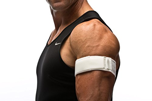 Cho-Pat Upper Arm Strap (Waterproof) - Compression Band Prevents Pulling and Tearing - Swimmer's Arm, Bicep and Tricep Tendonitis (Large)