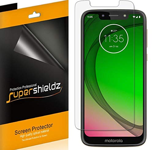 (6 Pack) Supershieldz for Motorola (Moto G7 Play) Screen Protector, High Definition Clear Shield (PET)