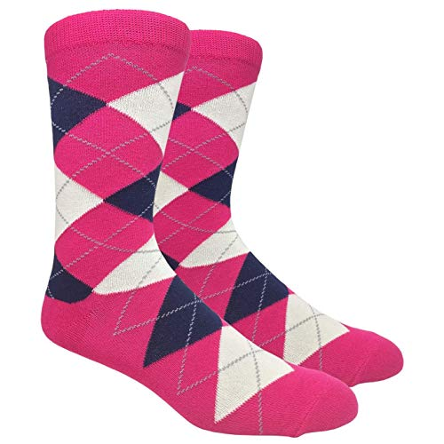 Men's FineFit Arygle Dress Trouser Socks Assorted Colors