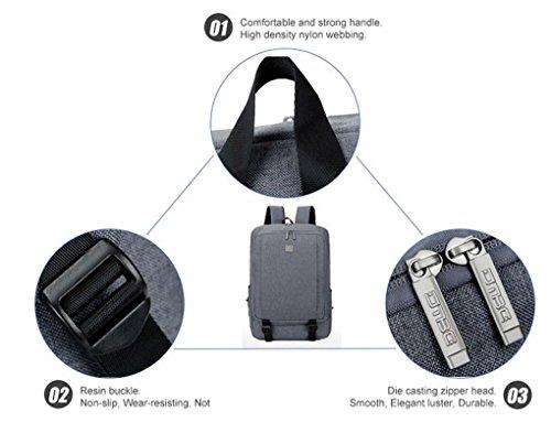 Fen Hohe Kapazität Laptop Tasche 39,6cm vielseitig Herren Rucksack Wasserdicht Laptop-Tasche (blau, braun, schwarz) braun braun braun