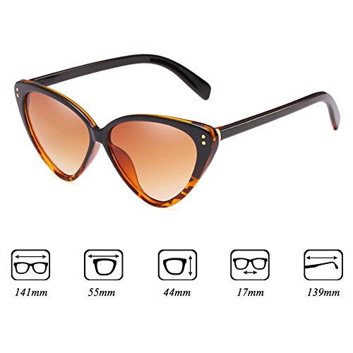 Highdas Eyeglasses Stylish Triangle Mujeres C4 Sunglasses Eye Vintage Cat Sunglasses qnaZvCR