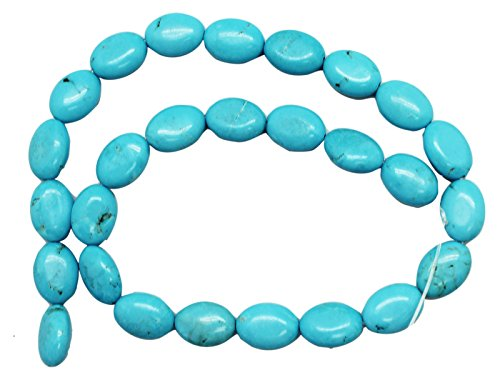 (11mm Oval Turquoise Bead Strand (16 Inch) )