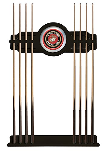 U.S. Marines Cue Rack in Black Finish by Holland Bar Stool Co.