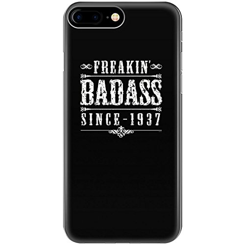 80th Birthday Gift For Men Freakin' Badass Since 1937 - Phone Case Fits Iphone 6 6s 7 8
