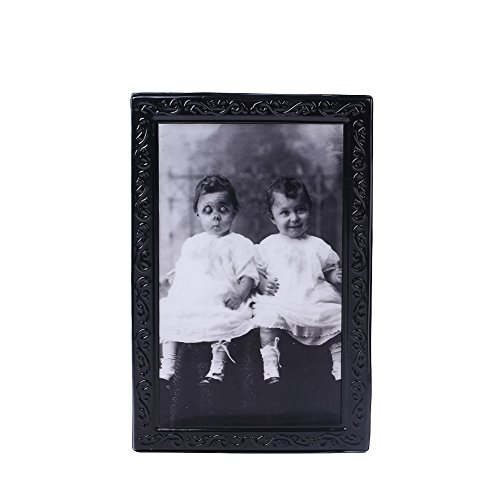 Kicode Halloween Horror 3D Ghost Frame Party Lenticular Morphing Home Wall Photo Picture Haunted Spooky Black -