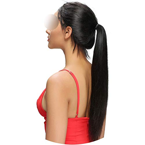 (Straight Lace Front Human Wigs Pre Plucked With Baby Glueless Lace Front Wigs Bleached Knots Brazilian Remy Hair,Natural Color,26inches,13x4 130 Density)