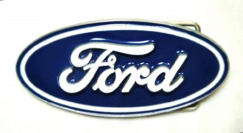 Ford Racing Belt Buckle - FAMOUS FORD OVAL EMBLEM PEWTER - REG'D TRADEMARK
