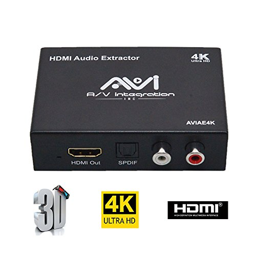 Audio Tv Box (AVI ULTRA HD 4K HDMI To HDMI Audio (SPDIF + RCA Stereo) Audio Extractor Converter (Most TV boxes supported) (4K))