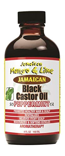 Jamaican Mango & Lime Peppermint Black Castor Oil (Jamaican Black Castor Oil And Rosemary Oil)