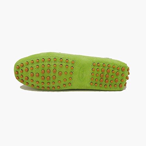 Minitoo ,  Damen Durchgängies Plateau Sandalen mit Keilabsatz , Grün - Grün - Größe: 36