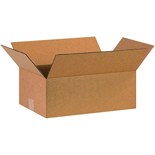 "BOX USA B16106100PK Corrugated Boxes, 16"" L x 10"" W x 6"" H, Kraft (Pack of 100) from BOX USA"