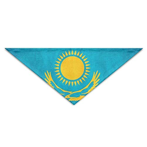 Mewisx Old Kazakhstan Flag Dog Bandanas Scarves Bibs Scarfs Novelty Basic Neckerchief Cat Collars Pet Costume Accessory Kerchief Large&Medium&Small Puppy for $<!--$11.99-->