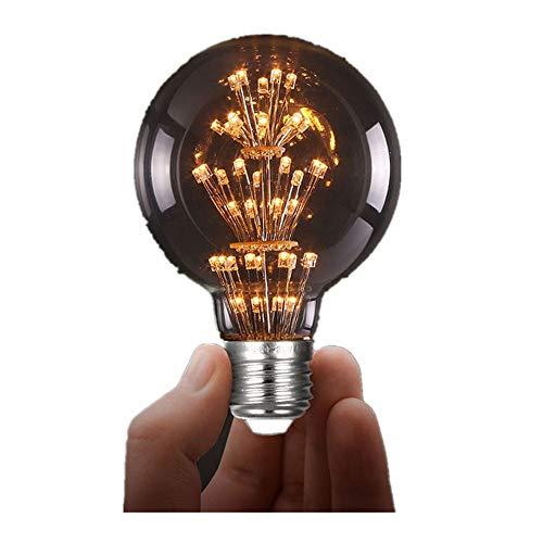 (Light Bulb,NOMENI 5W E27 G80 G95 Edison Tungsten Retro Decorated with Sky Stars LED Lamp (A))