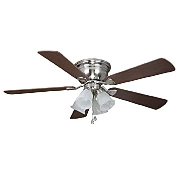 Harbor Breeze Centerville 52 in Brushed Nickel Flush Mount Indoor Ceiling  Fan with Light KitHarbor Breeze Centerville 52 in Brushed Nickel Flush Mount Indoor  . Harbor Breeze Lighting Kit. Home Design Ideas