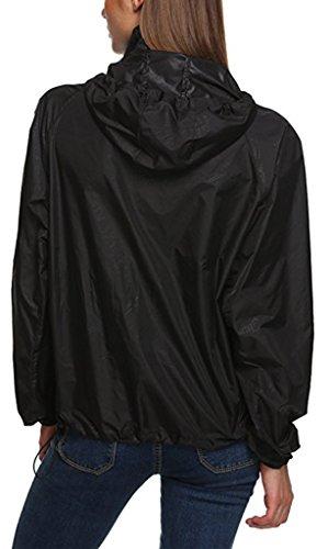 de Veste Veste UV Sawadikaa Femme Vent Sport Lgre Plein Packable Protection Noir Capuche Impermable Air Schage Rapide en Coupe CwCItq1x