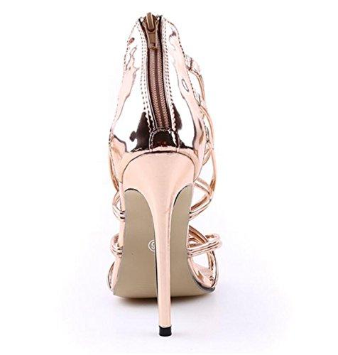 Las De Gold Aguja Nuevo Mujeres Pasarela Tacones Linyi Correa Sandalias Altos Zapatos Tobillo E5wnqg7U
