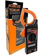 Multímetro Digital com Alicate Amperímetro Foxlux – 1000A – Ponta de Prova – ACV + DCV – Teste de Diodo e Continuidade – Teste de continuidade com bipe – Congelamento de leitura e picos