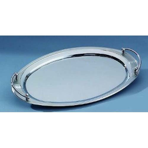 Elegance Oval Platter - Elegance Silver 73028 Oval Stainless Steel Tray with Handles, 22
